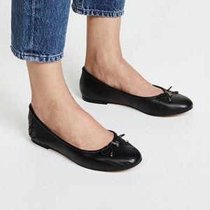 Sam Edelman Felicia Bow Ballet Flats Black Leather